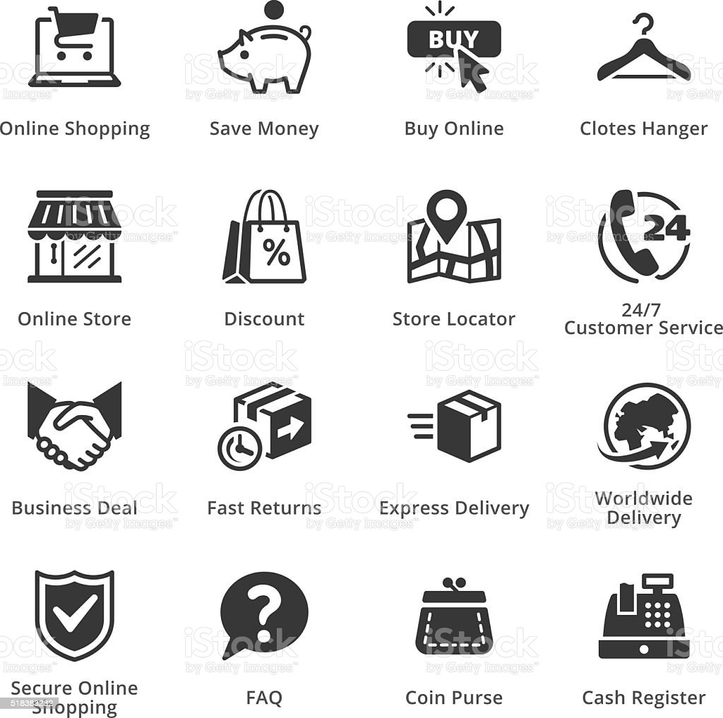E-commerce Icons - Set 5 vector art illustration
