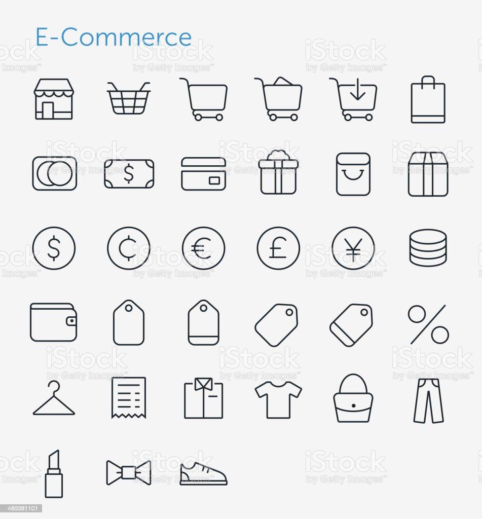 E-Commerce Icons Set royalty-free stock vector art