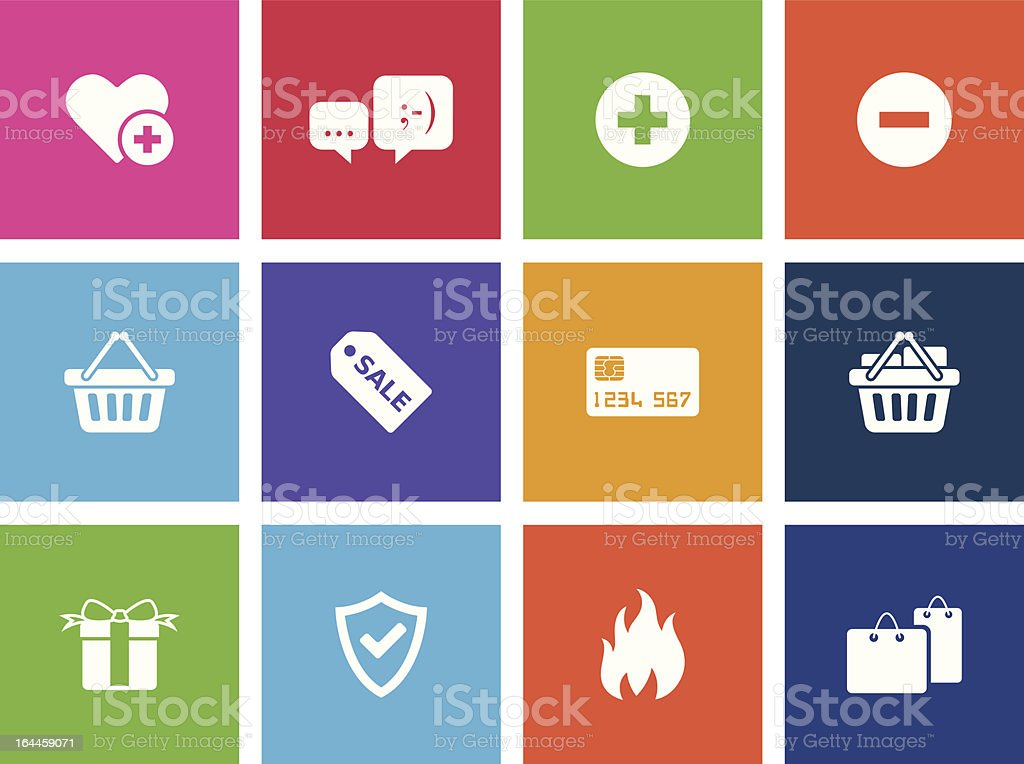 Ecommerce Icons vector art illustration