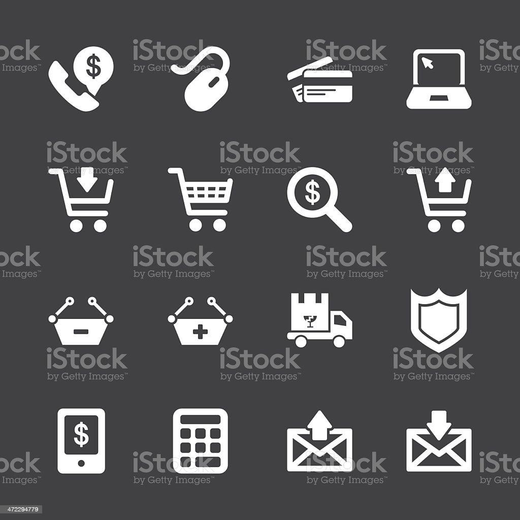 E-commerce Icons - White Series | EPS10 royalty-free stock vector art