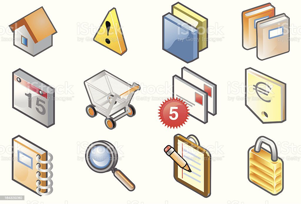 E-commerce isometric icons royalty-free stock vector art