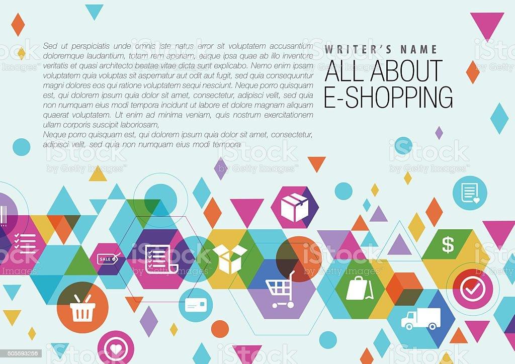 E-Commerce Page design vector art illustration