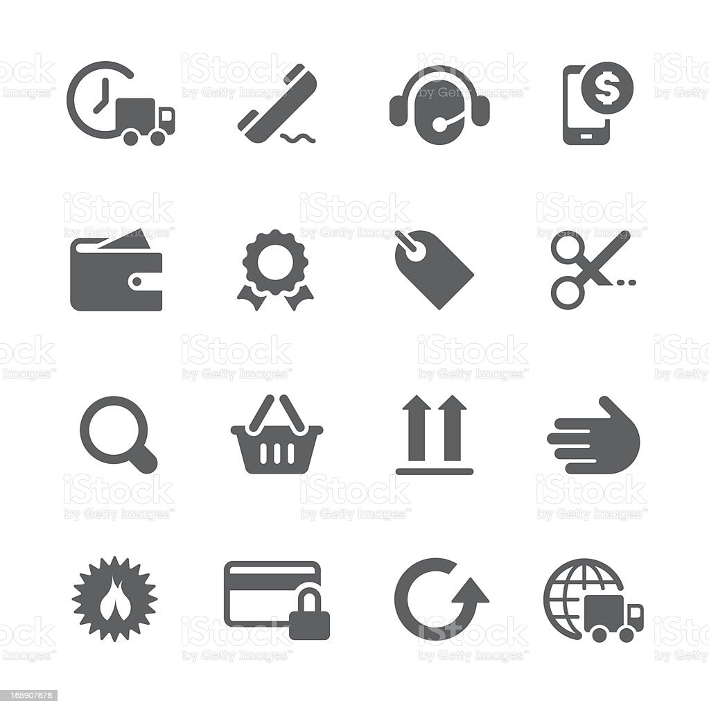 E-commerce & Shopping icons | prime series royalty-free stock vector art