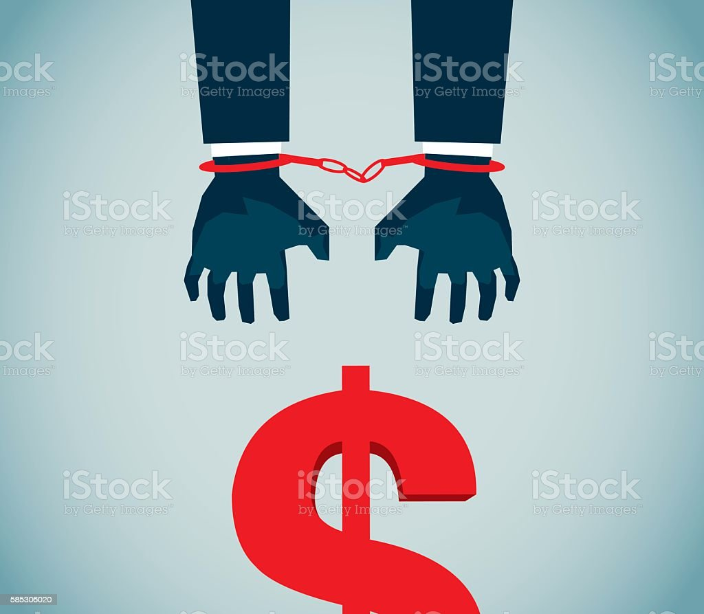 Economic Crimes vector art illustration