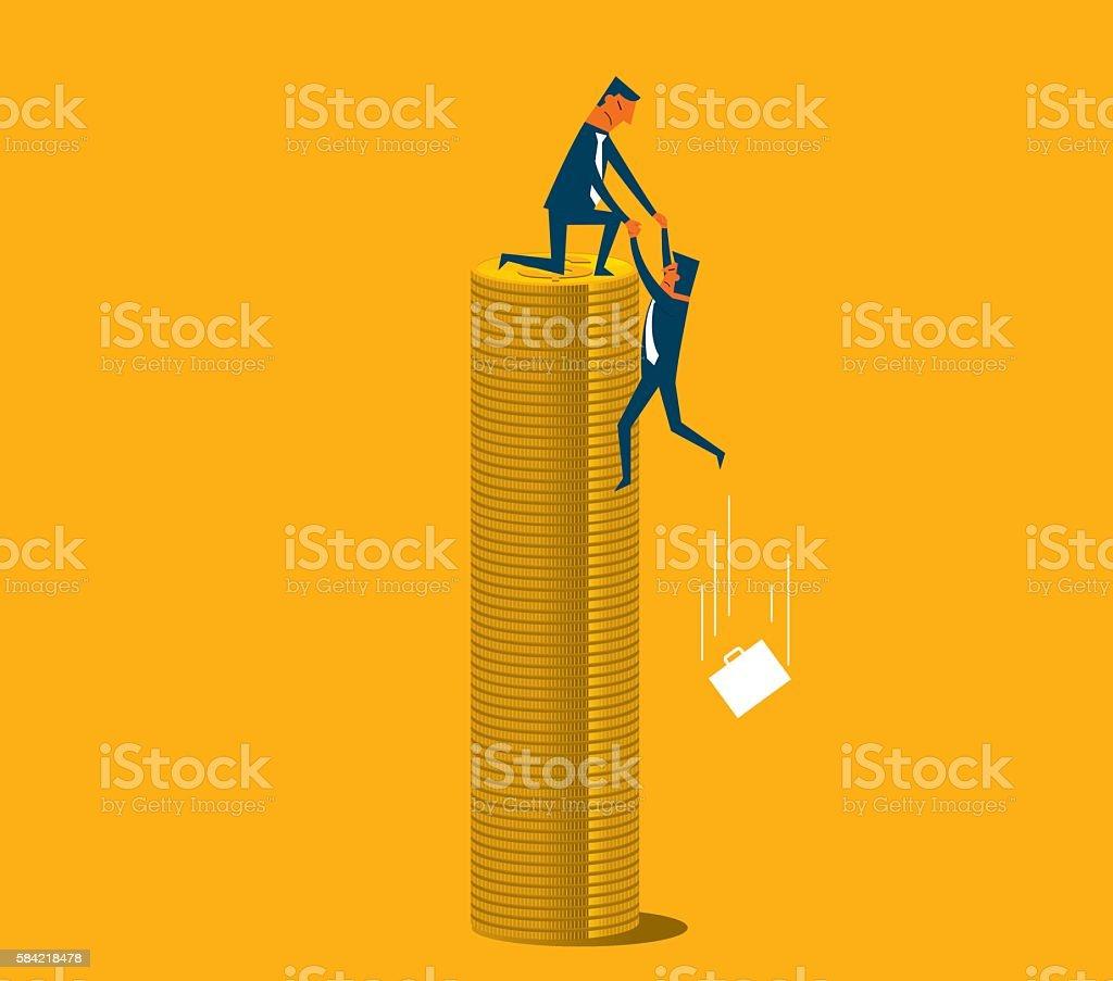 Economic Crisis vector art illustration