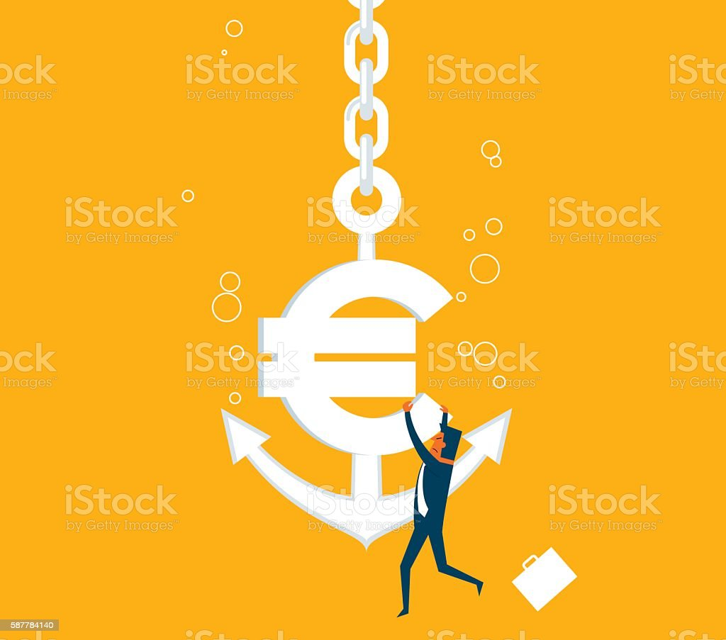 Economic Crisis vector art illustration
