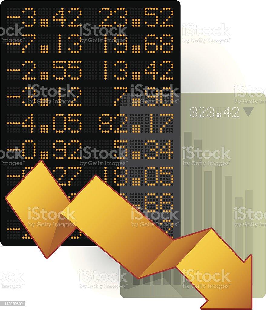 economic downturn vector art illustration