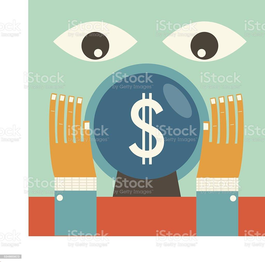 Economic Forecasting vector art illustration