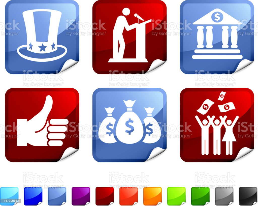 economic government bailout royalty free vector icon set vector art illustration