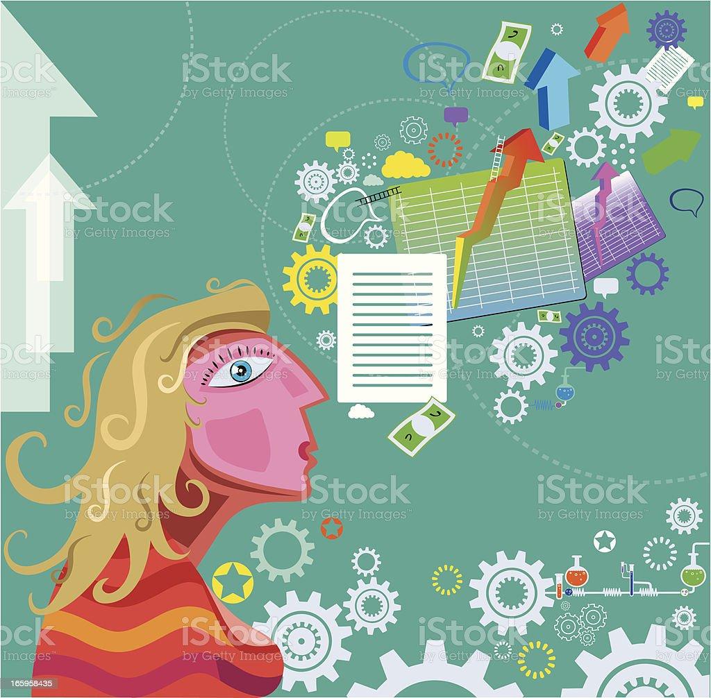 Economic life and Women royalty-free stock vector art