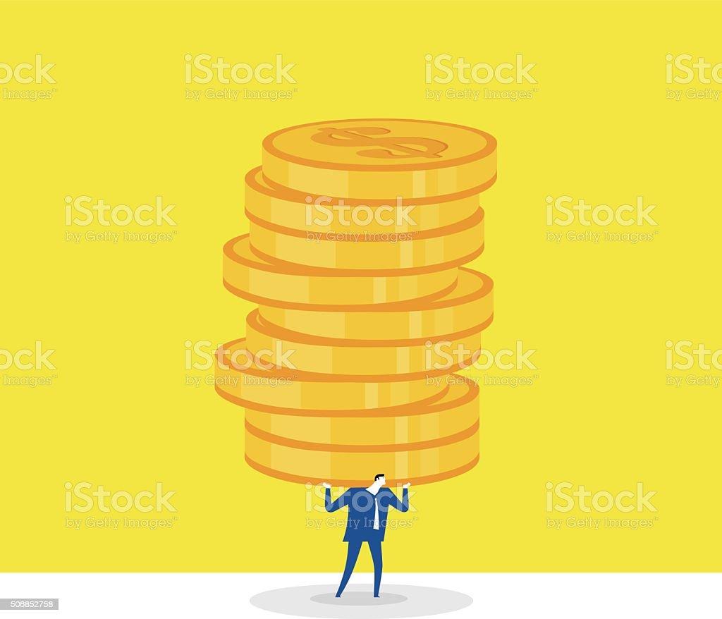 Economic pressure vector art illustration