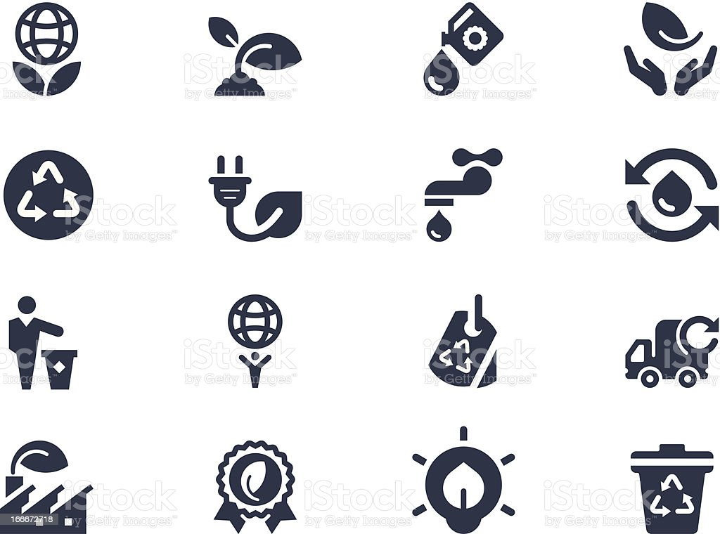 Economical icons with black and white vector art illustration