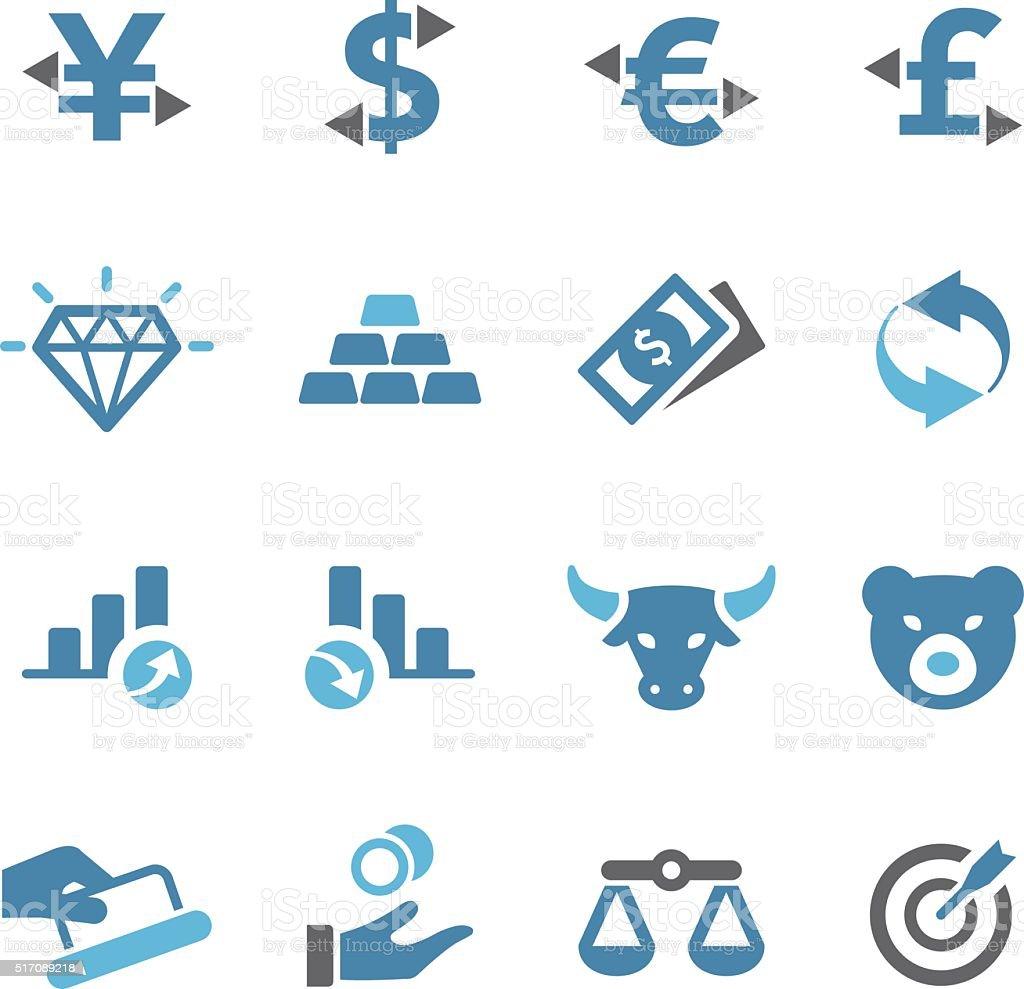 Economics Icons - Conc Series vector art illustration