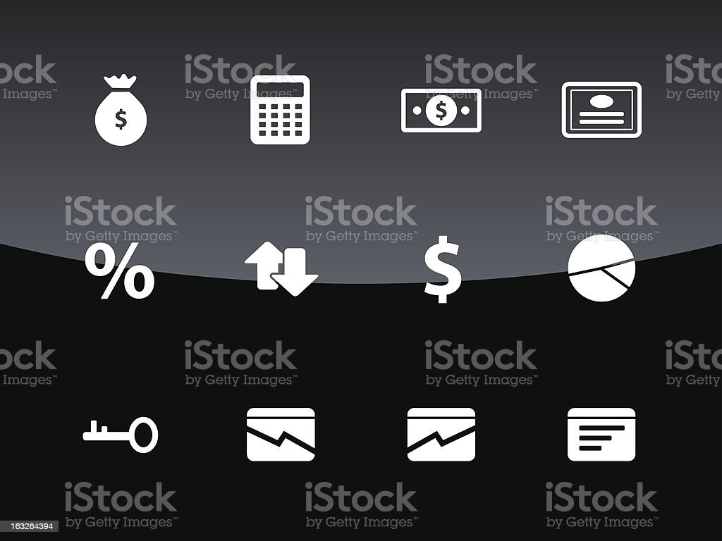 Economy icons | Glass Style royalty-free stock vector art