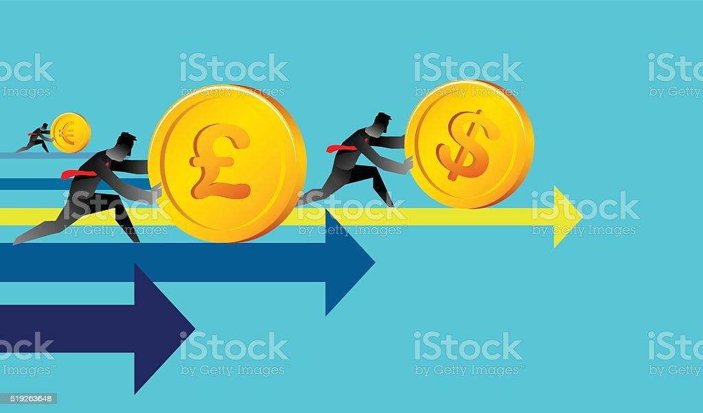 Economy moving vector art illustration