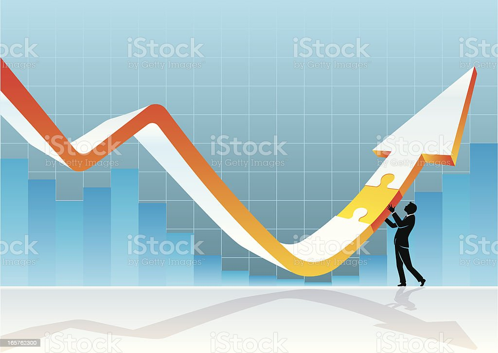 Economy Recovery Solutions vector art illustration