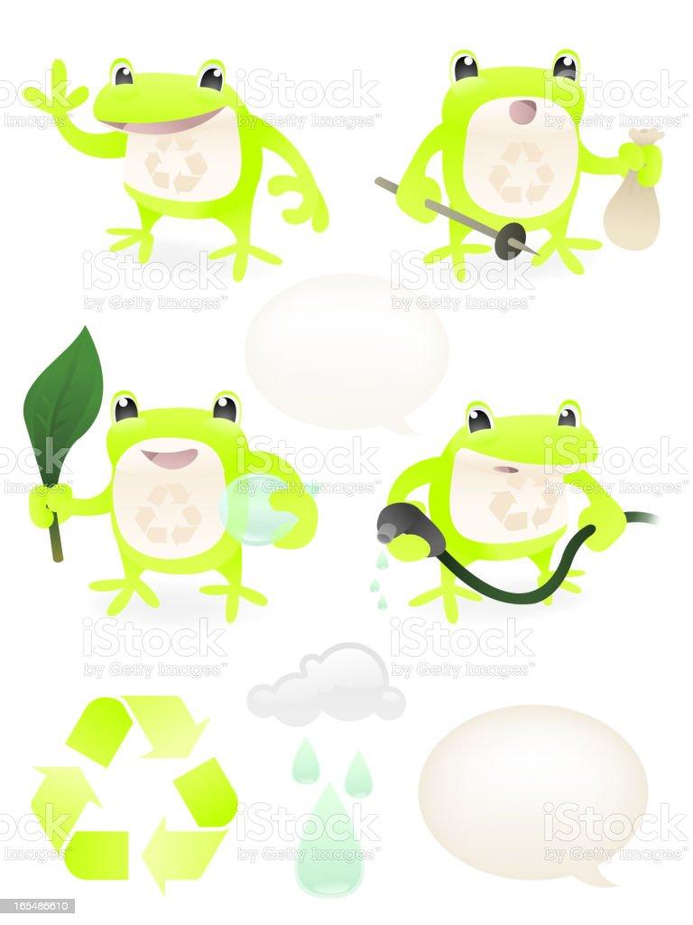 eddie the eco frog stock vector art 165486610 istock rh istockphoto com Recycle Money Recycle Clip Art