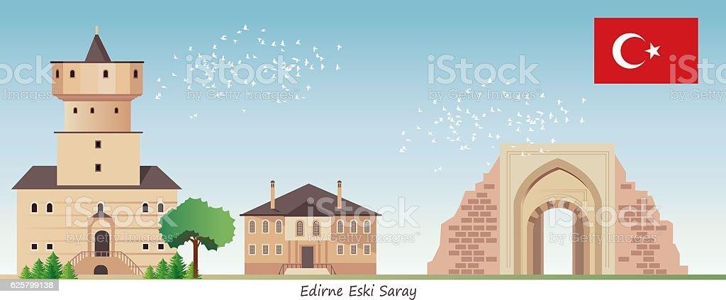 Edirne (Eski Saray) vector art illustration