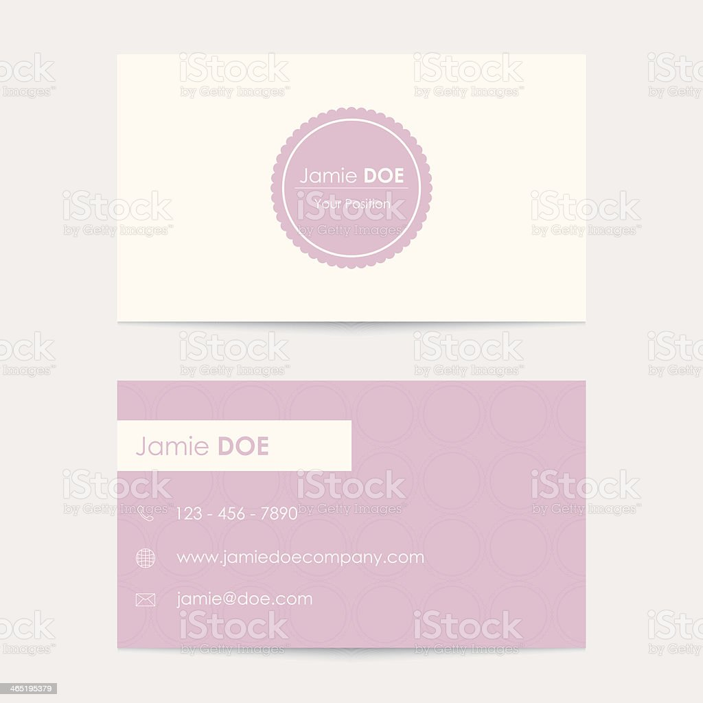 editable vector business card template royalty-free stock vector art