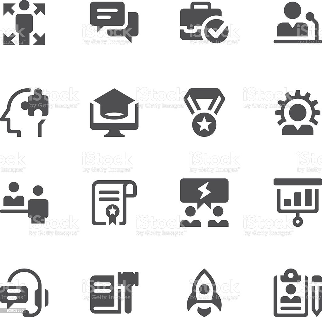 Education and occupation icons vector art illustration