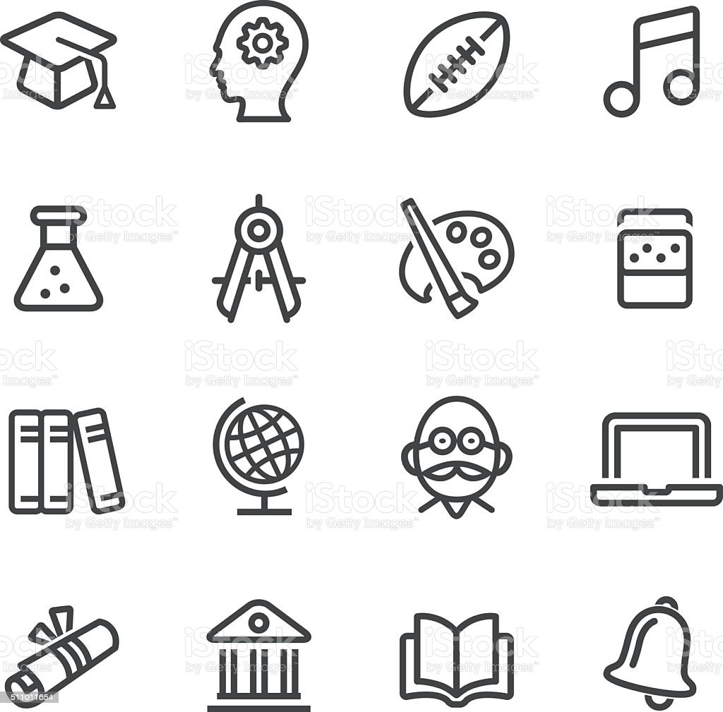 Education and School Icons - Line Series vector art illustration