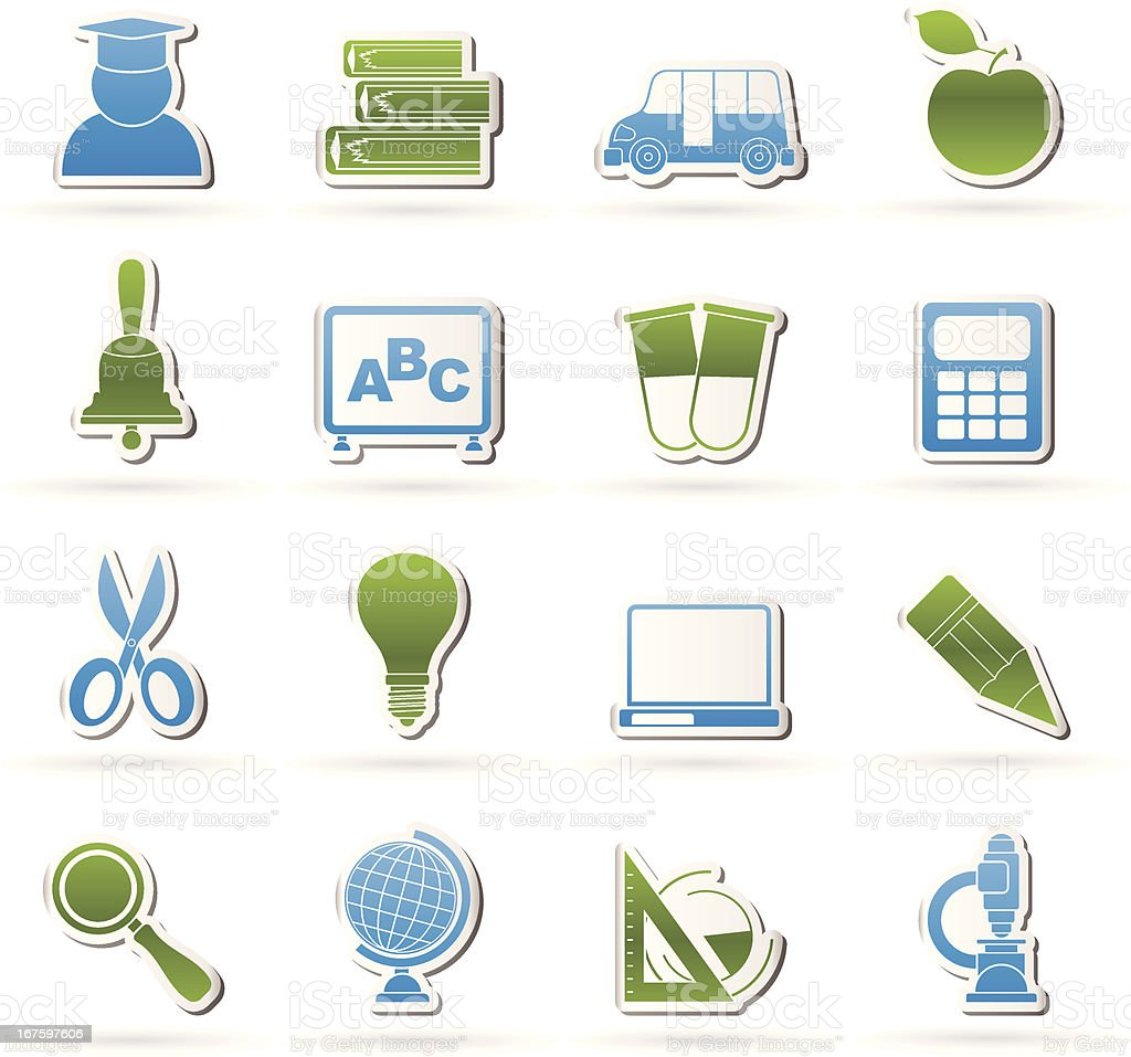 education and school icons royalty-free stock vector art
