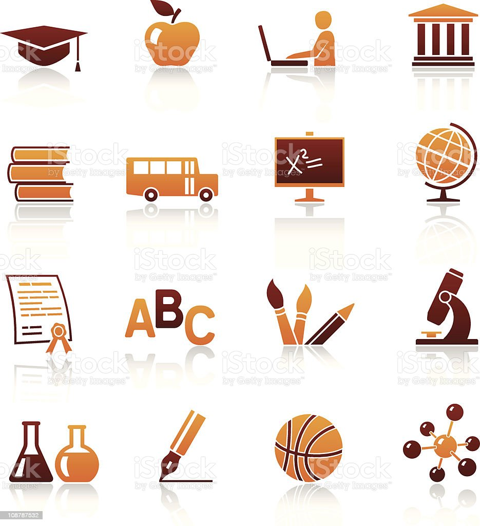 Education and school vector icon set royalty-free stock vector art