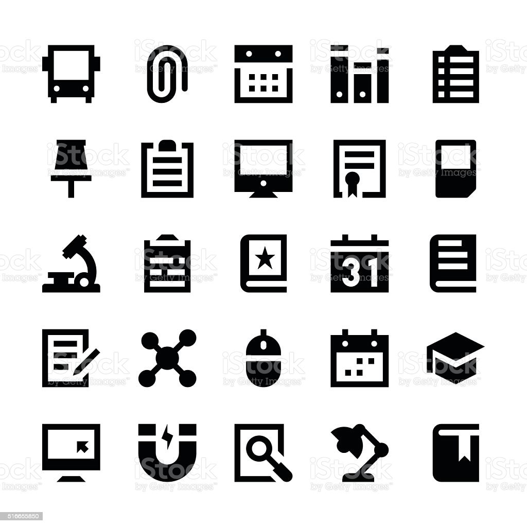 Education and School Vector Icons 4 vector art illustration