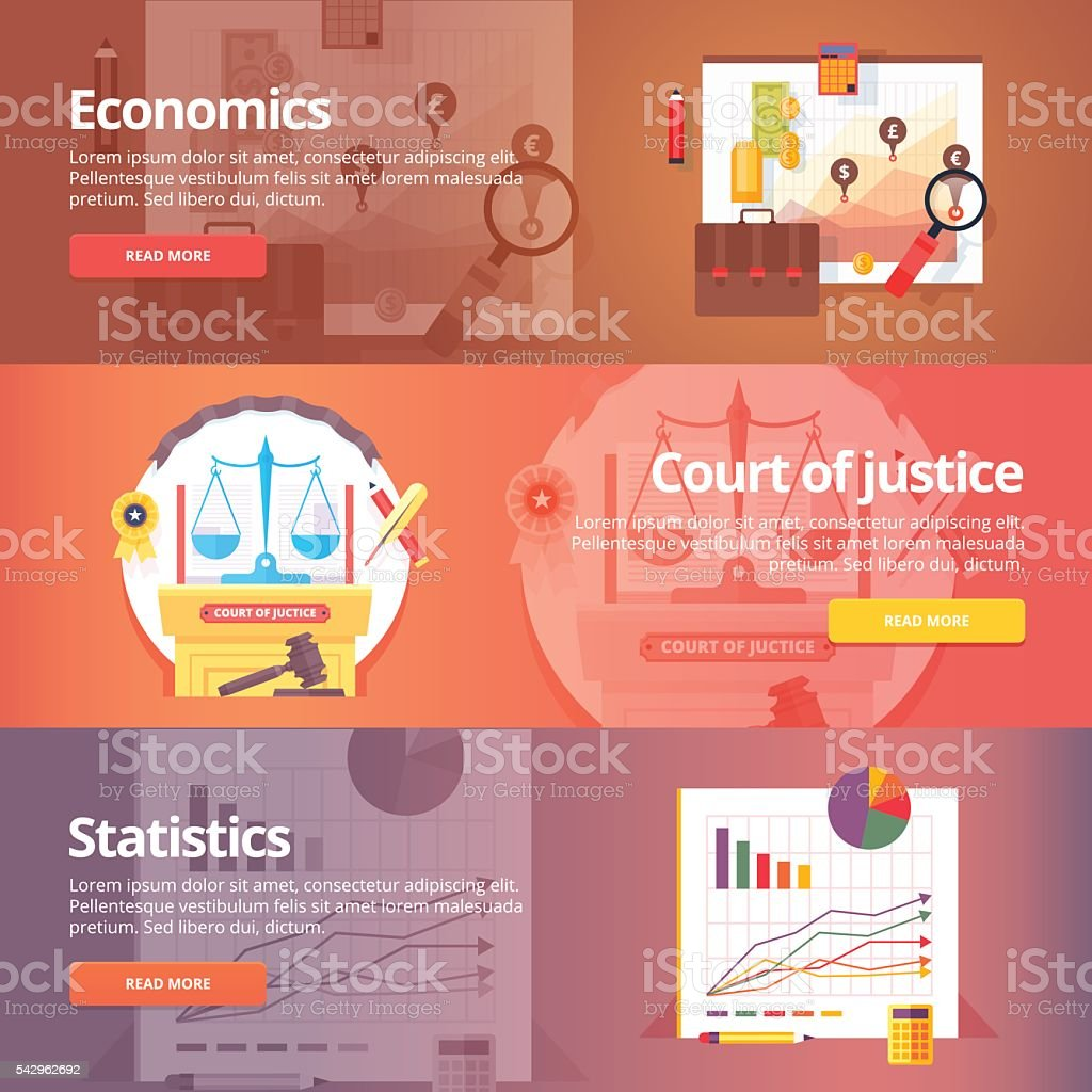 Education and science banners set. Vector design concept. vector art illustration