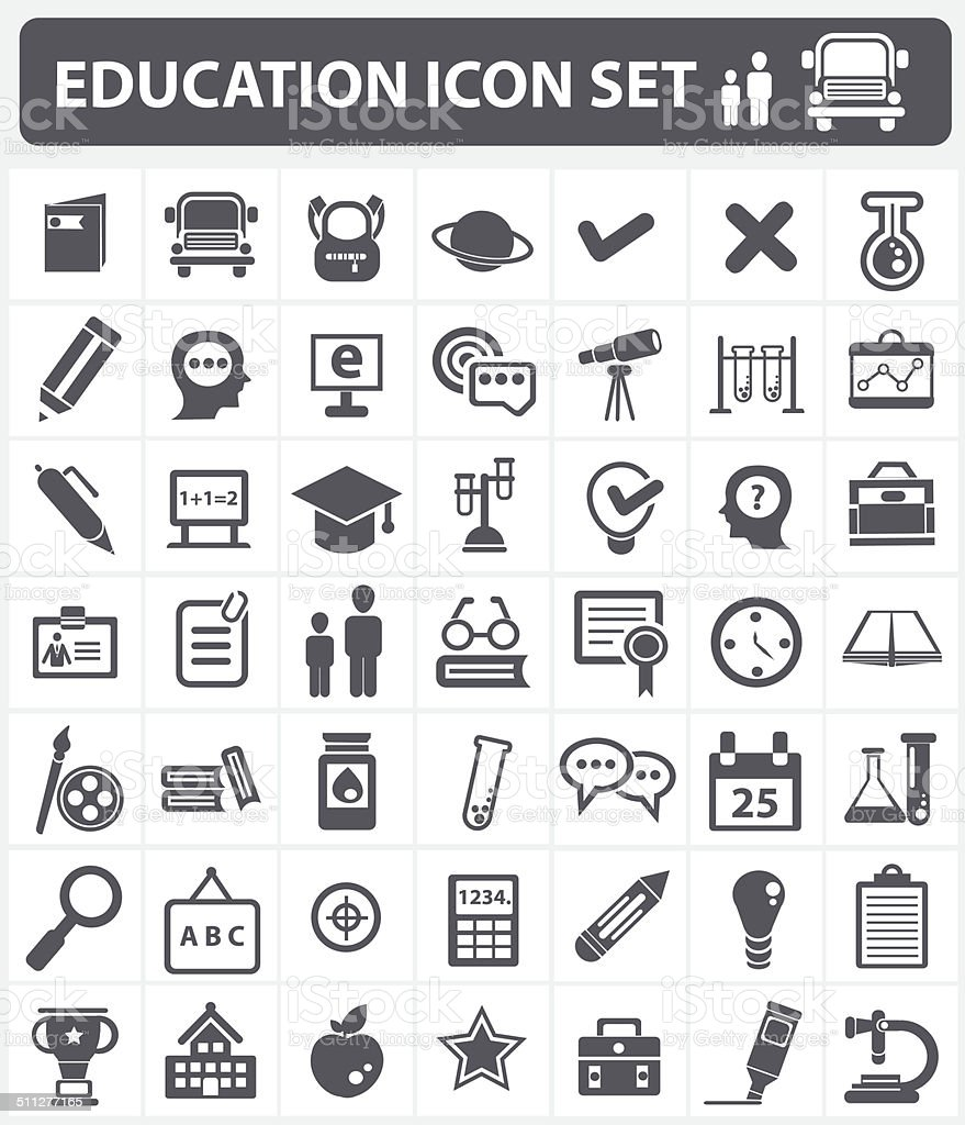 Education and science sign,icon set,vector vector art illustration