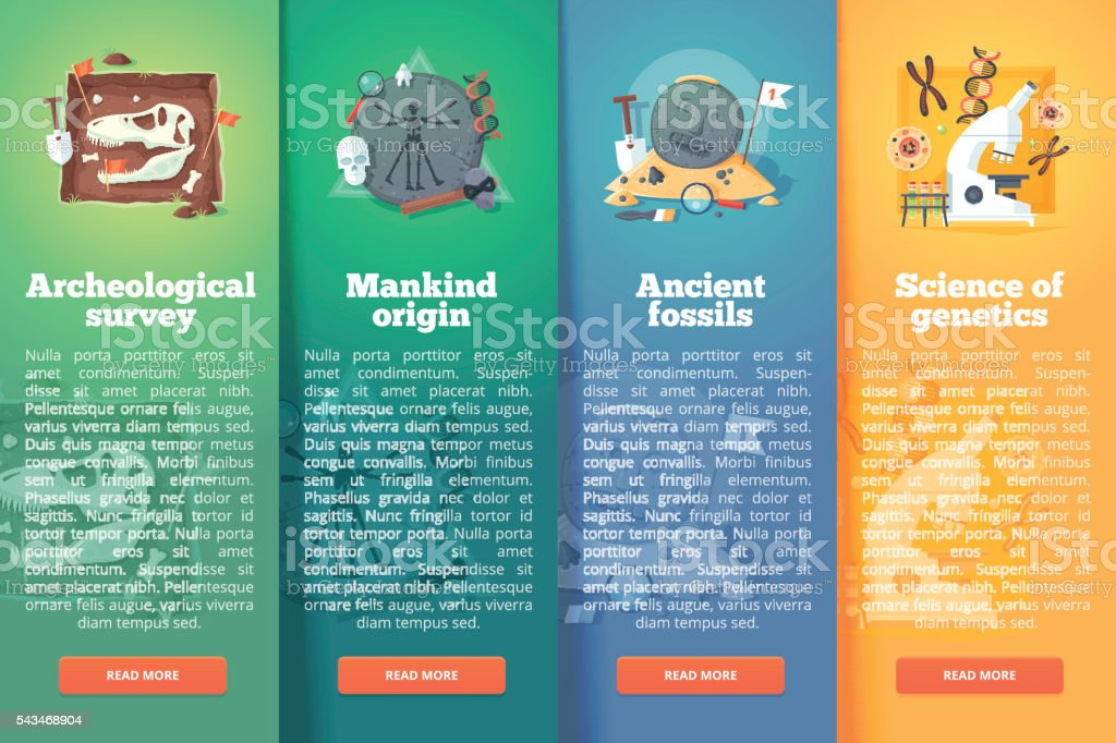 Education and science vertical layout concepts. Flat modern style. vector art illustration