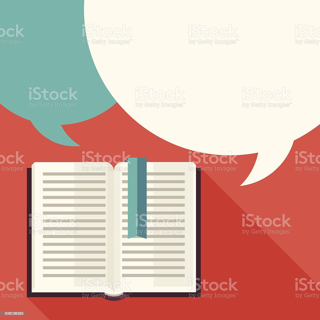 Education background with books in flat design style. vector art illustration