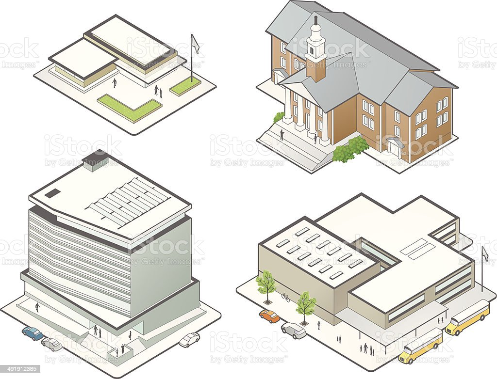 Education Building Illustrations vector art illustration