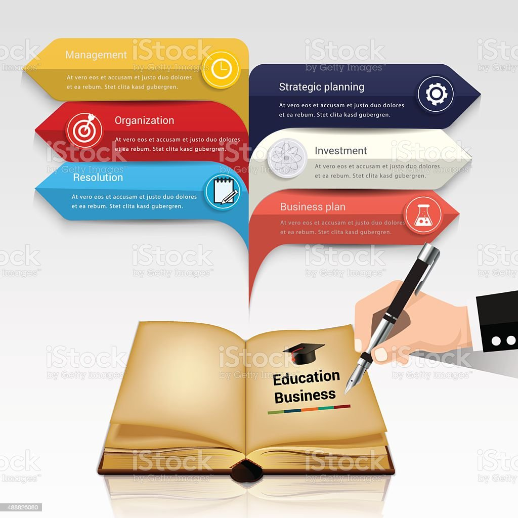 Education business infographic background vector art illustration