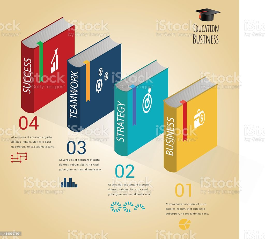 Education business infographic concept. vector art illustration