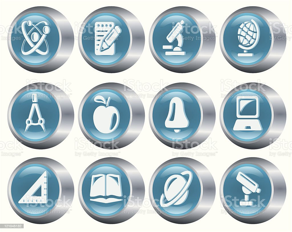 Education buttons royalty-free stock vector art