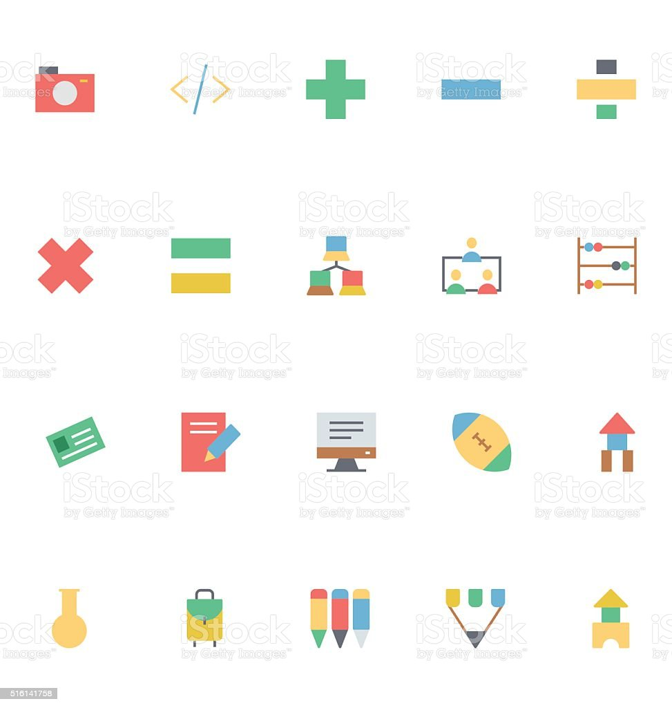 Education Colored Vector Icons 8 vector art illustration