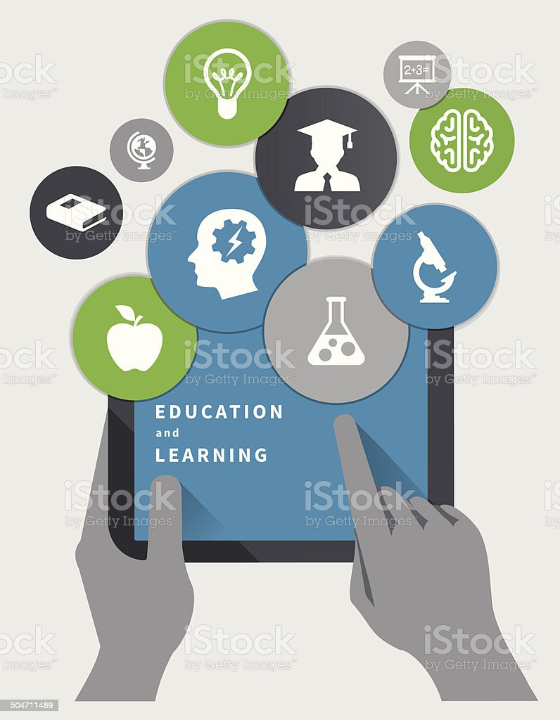Education Concept vector art illustration