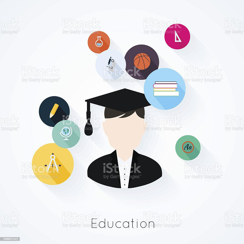Education concept royalty-free stock vector art