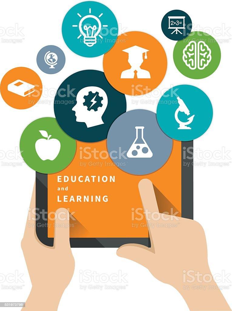 Education Concept vector art illustration