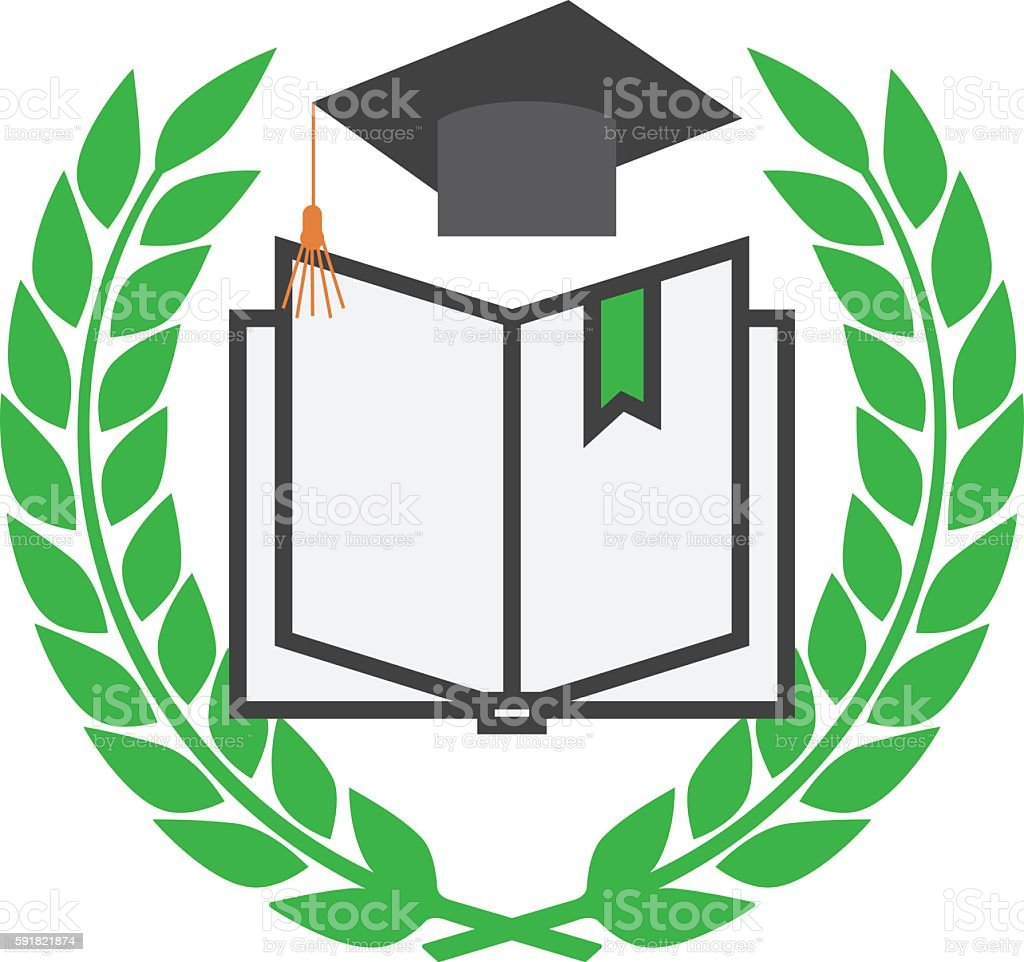 Education concept with mortarboard vector art illustration