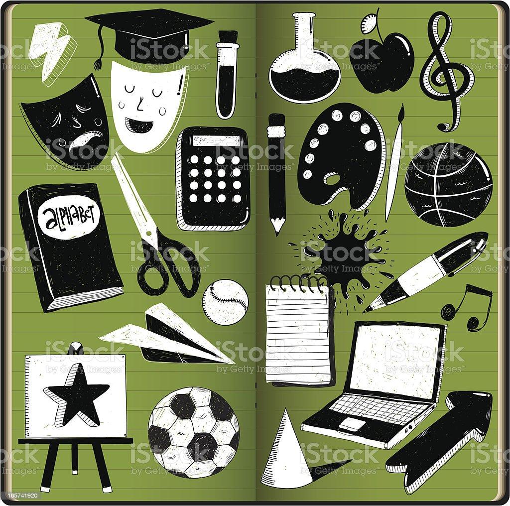 Education doodles royalty-free stock vector art