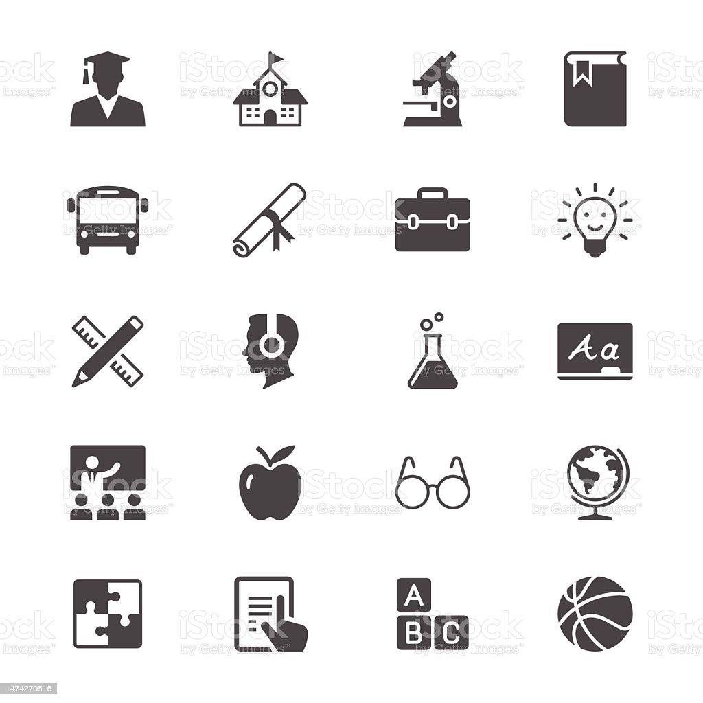 Education flat icons vector art illustration