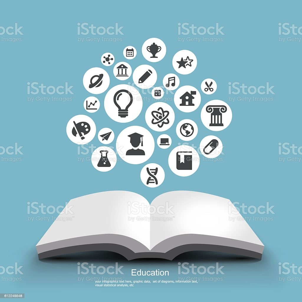 Education - Graphic Elements vector art illustration
