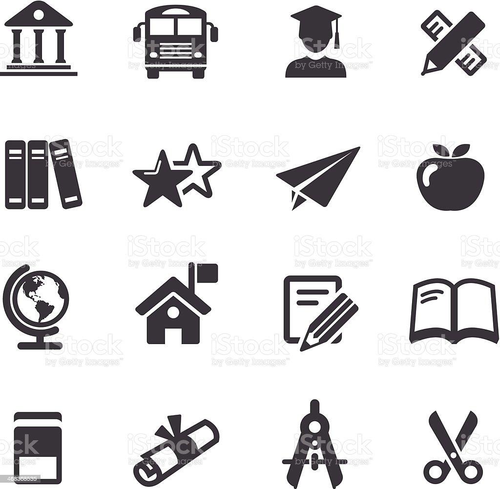 Education Icon - Acme Series vector art illustration