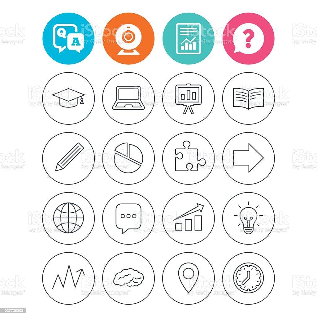 Education icon. Graduation cap, pencil and book. vector art illustration