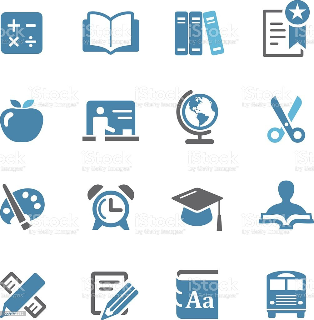 Education Icon Set - Conc Series vector art illustration