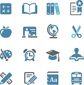 Education Icon Set - Conc Series