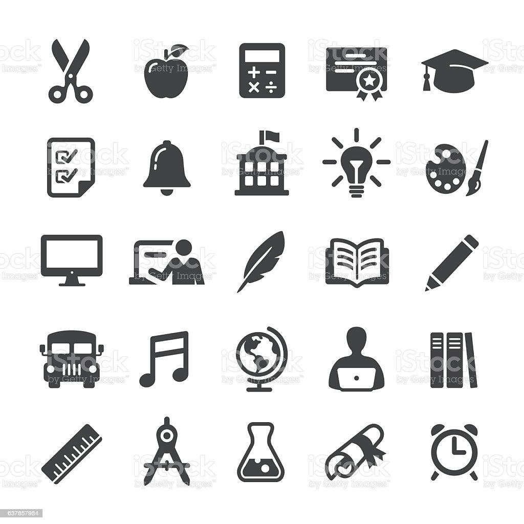 Education Icon Set - Smart Series vector art illustration