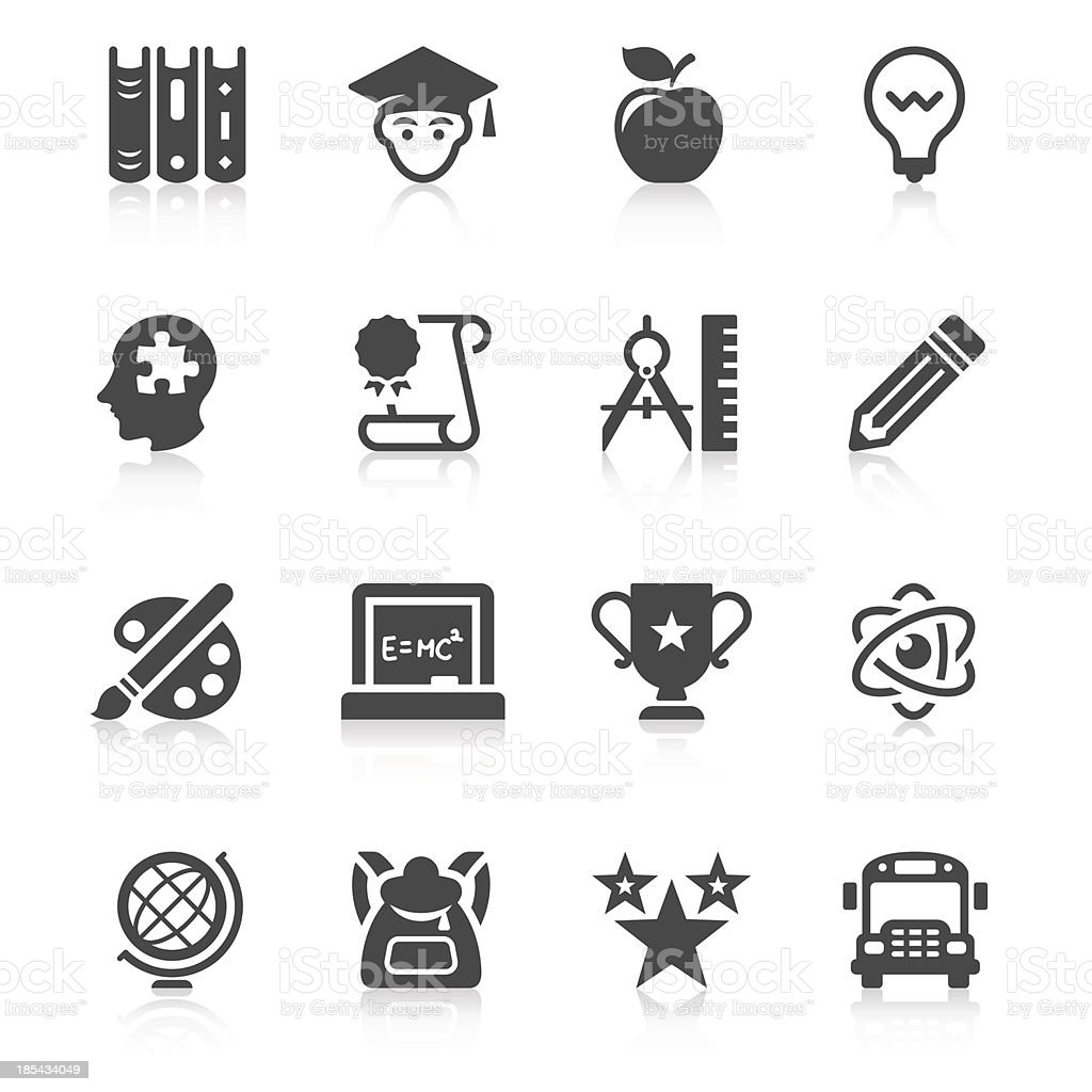 Education Icon Set | Unique Series vector art illustration